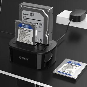HOUSSE DISQUE DUR EXT. Boîtier disque dur 3.5 pouces 1 à Clone 2 Bay USB