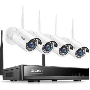CAMÉRA DE SURVEILLANCE Wireless 1080p Kit Vidéo Surveillance sans Fil, ZO