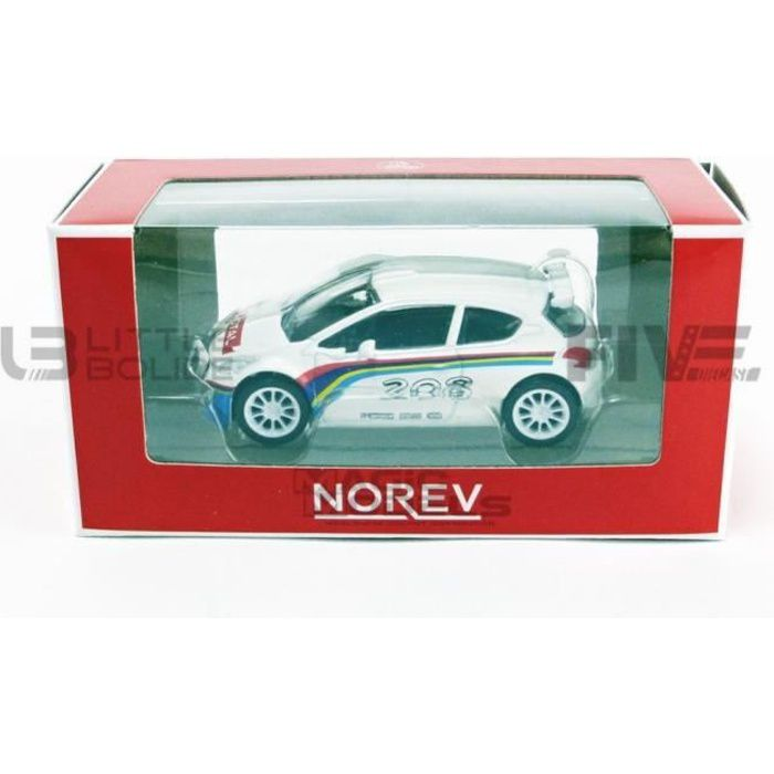 Voiture Miniature de Collection - NOREV 1/64 - PEUGEOT 208 T16 - White - 319151-208T16