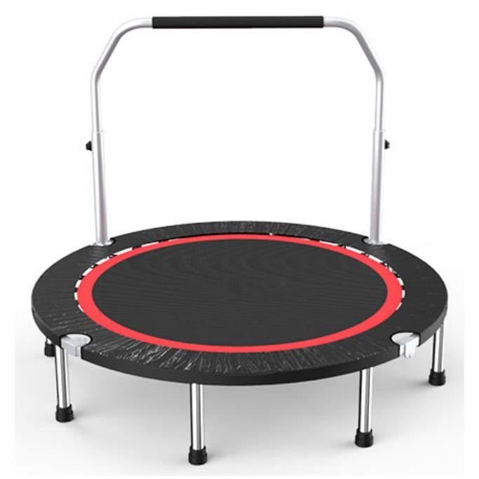 WISS Mini Trampoline Fitness Bungee avec la poignée pour Adultes et Enfants Ø 110 cm élastiques Bungee Noir