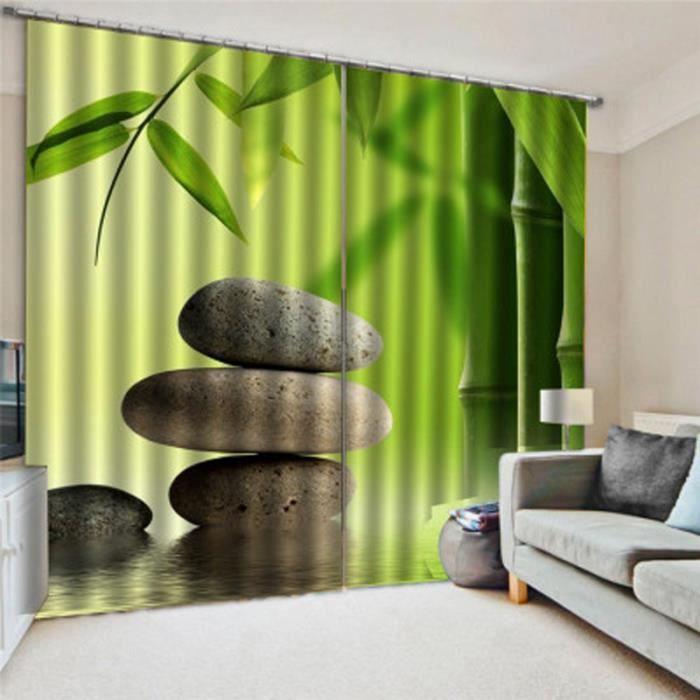 Rideau à œillets Bambou - 150x166cm cm - Vert