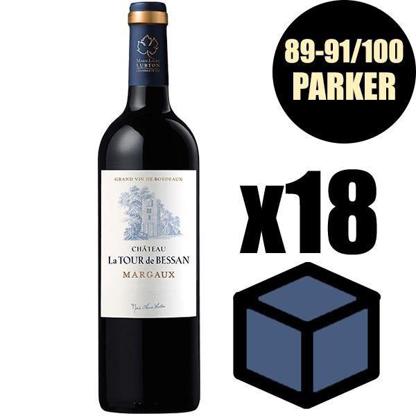 X12 Château La Tour de Bessan 2016 75 cl AOC Margaux Vin Rouge