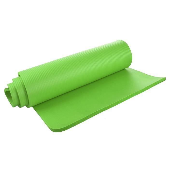 Tapis de yoga 15mm epais Exercice Fitness Physio Pilates Gym Mat Non Slip Mat Accident, Fruit vert