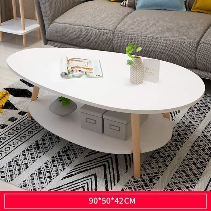 Table Basse Scandinave Simple Et Salon Table Chambre Moderne, Petit Appartement Table Ronde Canapé d'angle Table Décoration Pet[344]