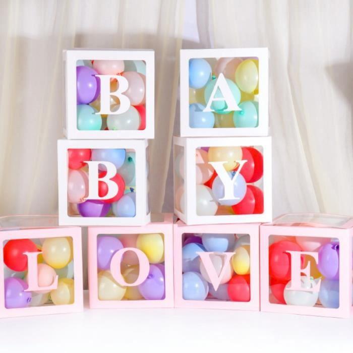 4 pièces-ensemble boîte transparente stockage ballon bébé douche décorations 1st fête d'anniversaire décorations enfants bébé ga