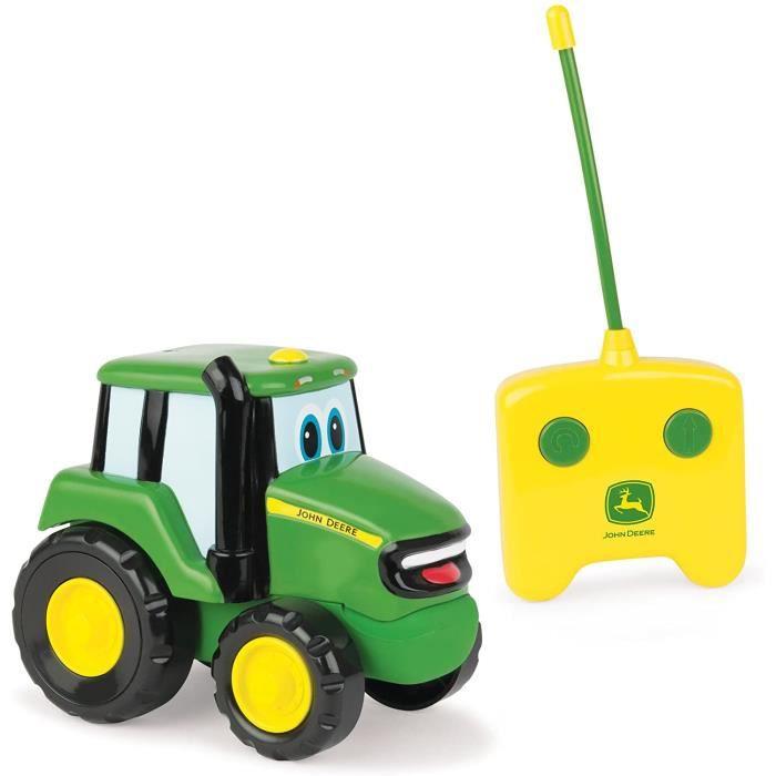 VEHICULE MINIATURE ASSEMBLE ENGIN TERRESTRE MINIATURE ASSEMBLE TOMY - Tracteur Jouet Enfant, Johnny le Tracteur Radiocommand&e344
