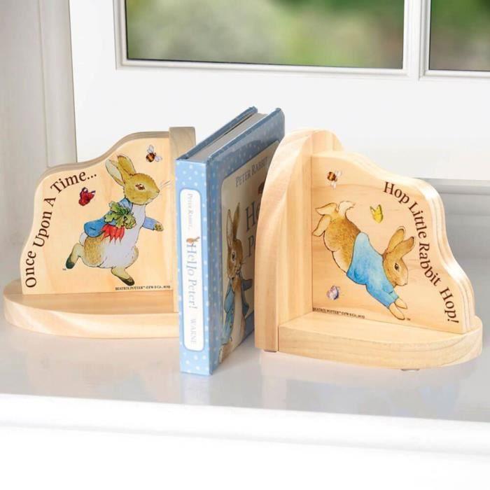 Beatrix Potter Pierre le Lapin Serre-livres en bois