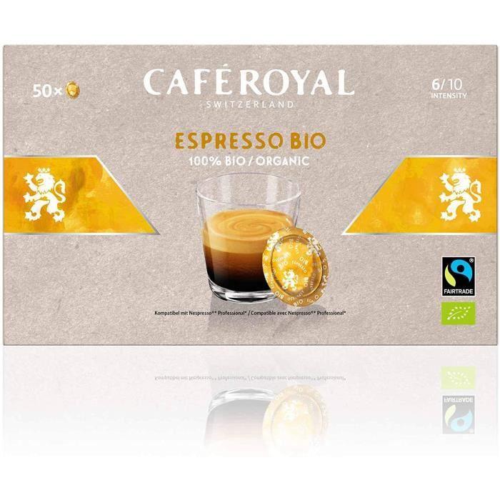 CAFE ROYAL PRO - 150 CAPSULES COMPATIBLES NESPRESSO PRO® - ESPRESSO BIO - 3 Boites de 50 Capsules Compatibles Nespresso Pro®