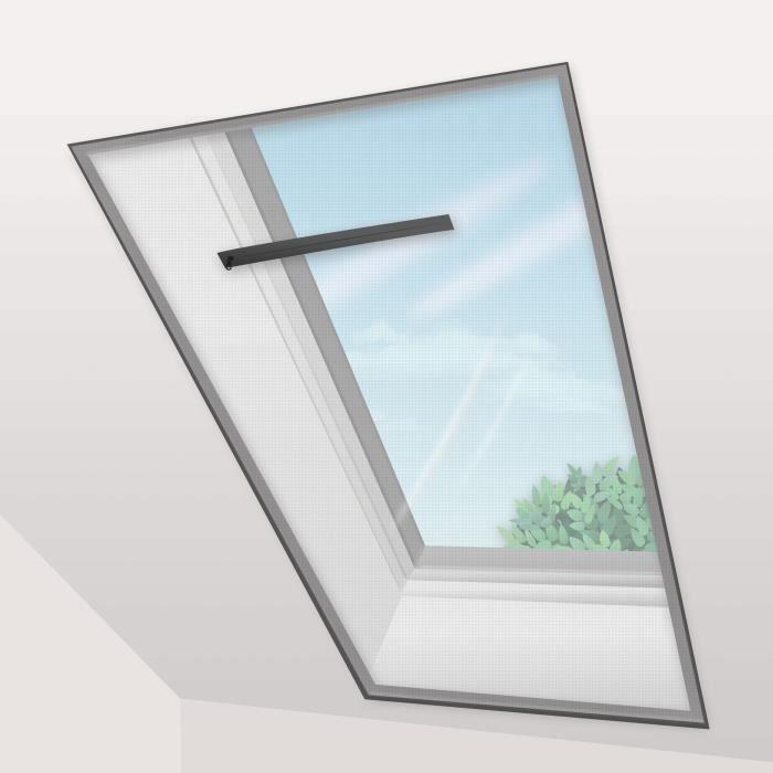 Voile Moustiquaire Fenêtre de Toit 150x180 cm Noir (lot de 2 pc)