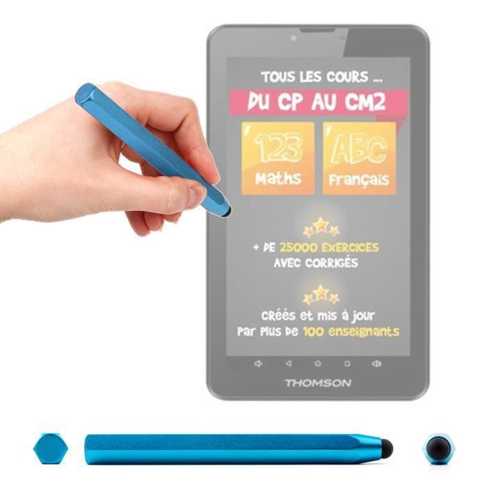 Stylet tactile bleu pour Thomson Teo École Primaire 7'' et Collège 10'' Tablettes éducatives - forme crayon ergonomique