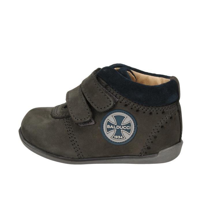 BALDUCCI Chaussures Enfant garçon Baskets cuir Bleu AD590