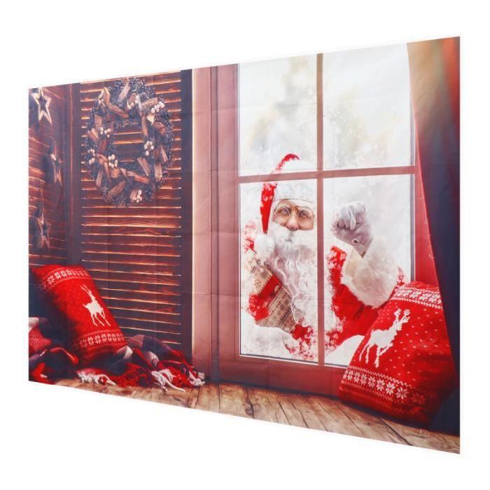 1PC Santa Claus de Noël Fond Tissu Photographie de Parti Prop Pour Studios Partie fond de studio studio photo - eclairage