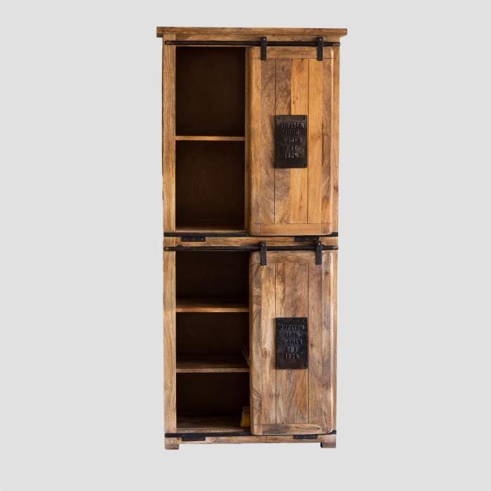 SKLUM Armoire à 2 portes coulissantes en bois Uain Bois Recyclé