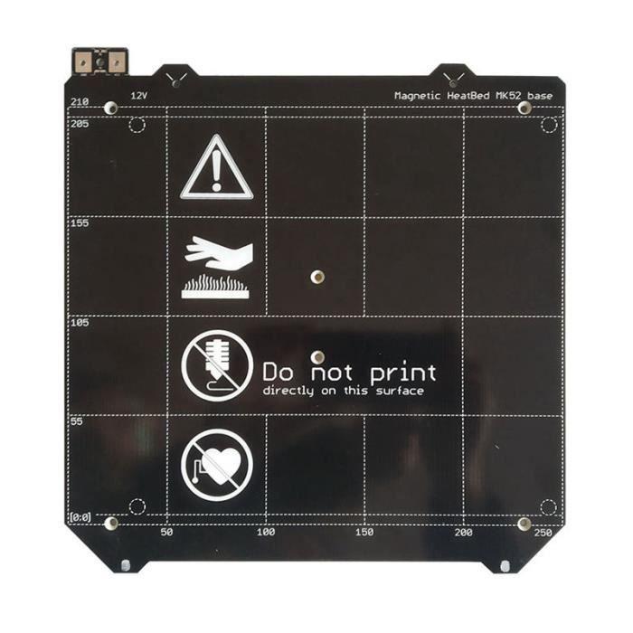 Pièces D'imprimante 3D Assemblée 24V Lit Chauffant Mk 52 Magnétique de Lit Chauffant D'imprimante 3D I3 Mk3 Cloner