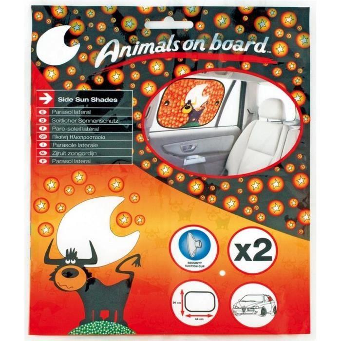 Pare-soleil -ANIMALS ON BOARD- 44x36cm. Taureau