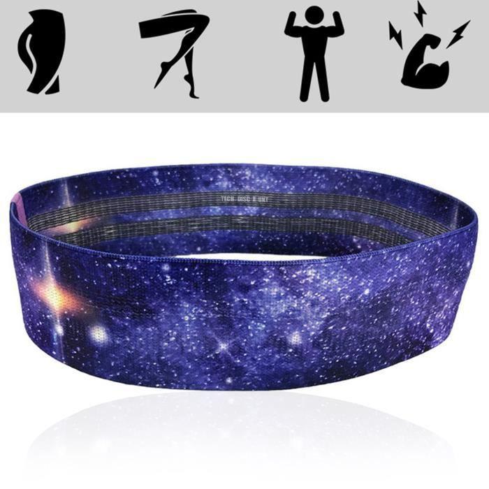 TD® Bande de résistance en boucle exercice bandes de yoga entraînement fitness entraînement cross fit 2 pièces accessoires de yoga 1