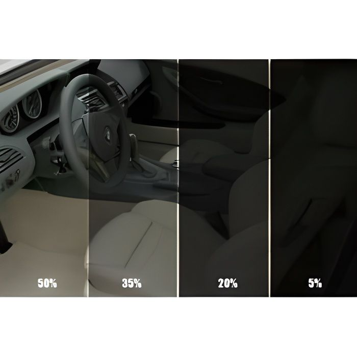Film solaire Noir qualite PRO, 6m x 76cm, teinte 35% VLT(35%PRO2) auto, batiment