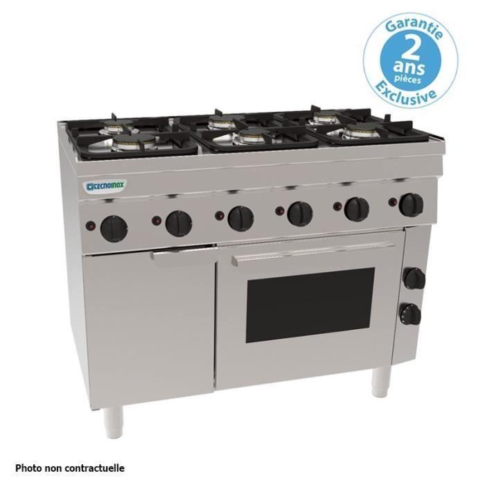 HOUSSE DE TÊTE DE LIT Piano de cuisson 6 feux sur four gaz statique GN 1