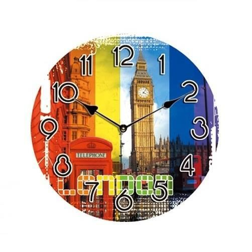 horloge pendule murale london londres achat vente horloge cdiscount. Black Bedroom Furniture Sets. Home Design Ideas