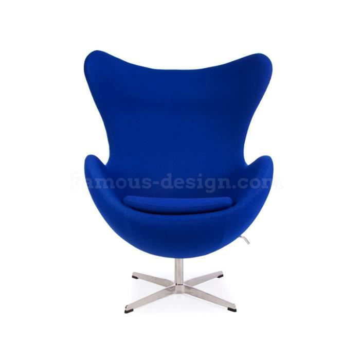 fauteuil egg arne jacobsen bleu le fameux fauteuil egg aj a t con u en 1958 par designer. Black Bedroom Furniture Sets. Home Design Ideas