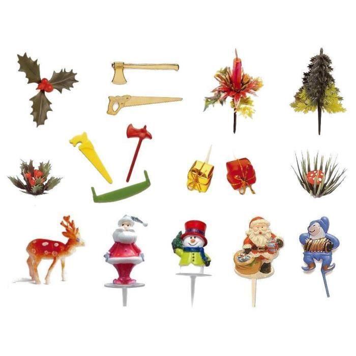 Lot De 17 Sujets Decoration Buche Noël Achat Vente Aide Pâtisserie Lot De 17 Sujets Decoration Cdiscount