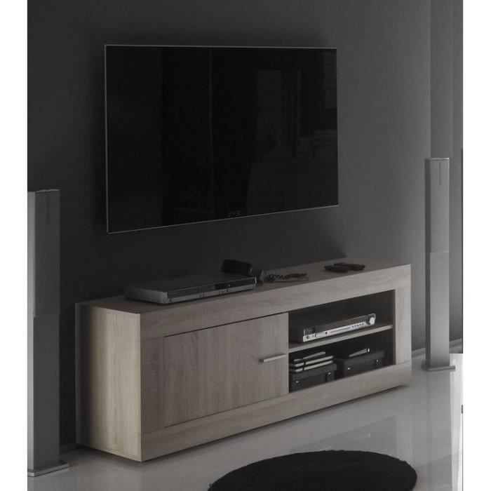 meuble tv ch ne clair tika2 achat vente meuble tv meuble tv ch ne clair tika2 cdiscount. Black Bedroom Furniture Sets. Home Design Ideas