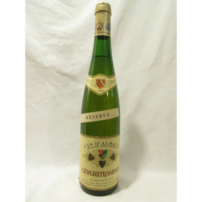 VIN BLANC gewurztraminer INRA réserve blanc 1982 - alsace fr