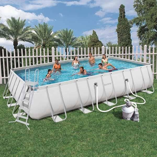 Piscine tubulaire rectangle 671x366x132cm achat vente piscine piscine tub - Piscine tubulaire discount ...