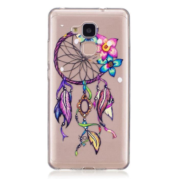 HOUSSE - ÉTUI étui Pour Huawei Honor 5C Colored Campanula jolie