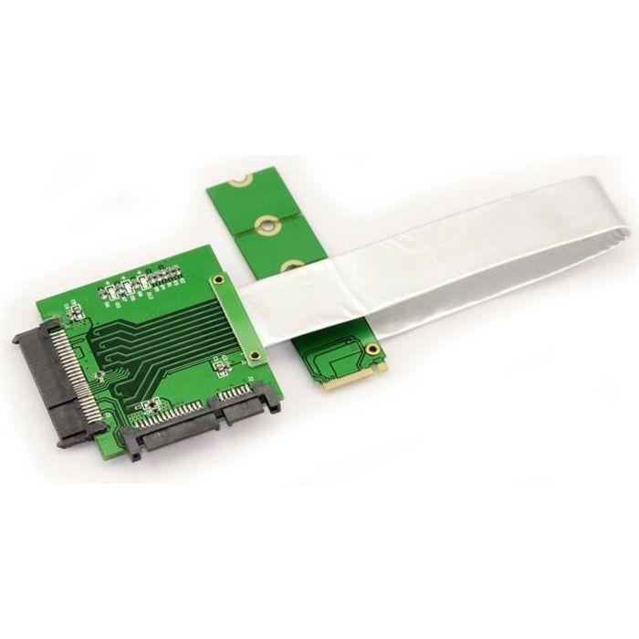 CARTE CONTROLEUR Adaptateur pour SSD NVMe U.2 (U2 NVMe) SFF-8639 su