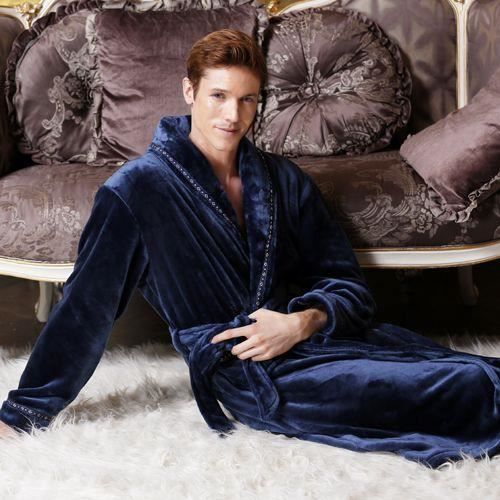 robe de chambre polaire bleu marine homme epais achat vente peignoir cdiscount. Black Bedroom Furniture Sets. Home Design Ideas