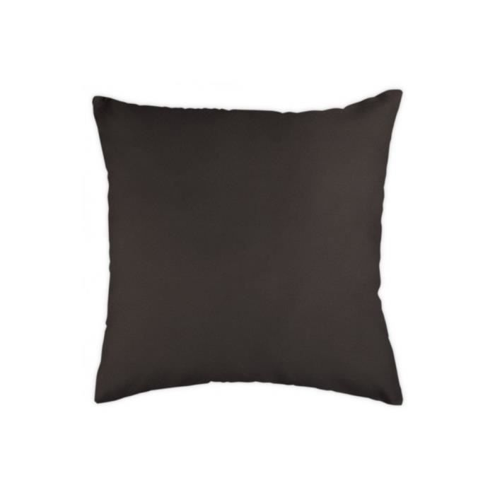 coussin uni 40x40 cm chocolat marron achat vente. Black Bedroom Furniture Sets. Home Design Ideas