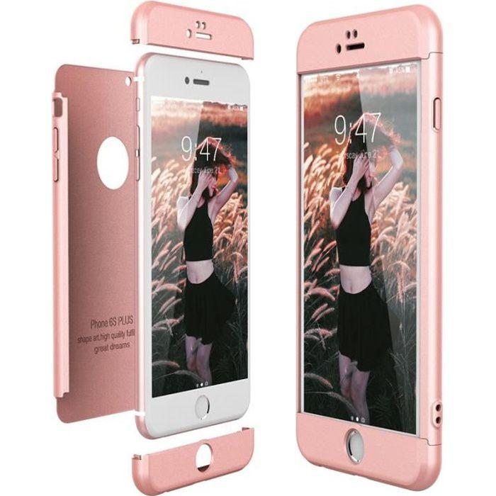 coque iphone 6 6s plus cas dur pc 3 en 1 ultra min