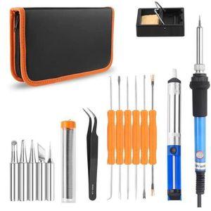 FER - POSTE A SOUDER Kit Fer à Souder à Température Réglable portable 6