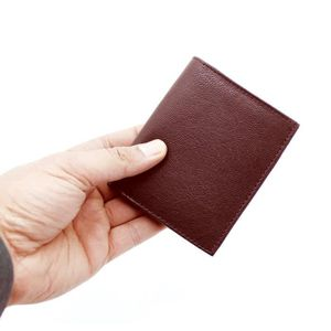 PORTEFEUILLE Portefeuille en cuir véritable souple et porte-car