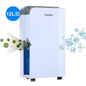 DÉSHUMIDIFICATEUR Finether 12L / J Déshumidificateur D'Air Electriqu