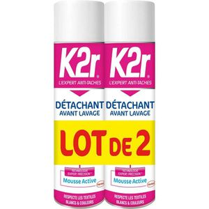 ADOUCISSANT K2R - Détachant - Avant lavage -Mousse Active - Bl