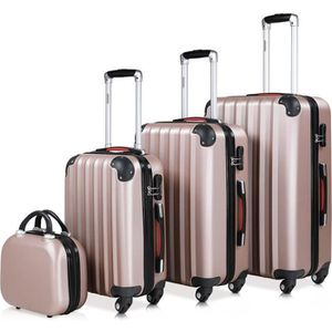 SET DE VALISES Set de 4 valises rigides M/L/XL et Vanity Rose-Or