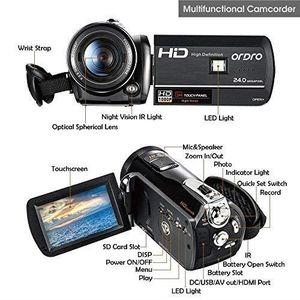 CAMÉSCOPE NUMÉRIQUE Caméscope Vision Nocturne 1080P Full HD ORDRO Camé