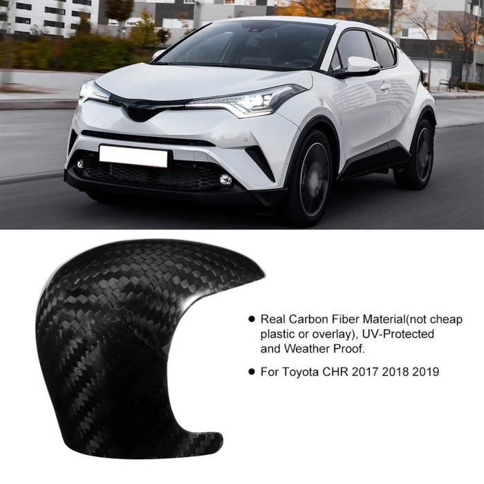 WIPES Carbon Fiber Gear Shift Knob Head Cover Trim Sticker Fit For Toyota Chr 2017 2018 2019