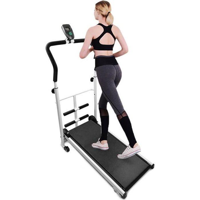 Tapis de Marche Mécanique - Tapis de Course Pliable - Machine Exercise Sit-Up Fitness