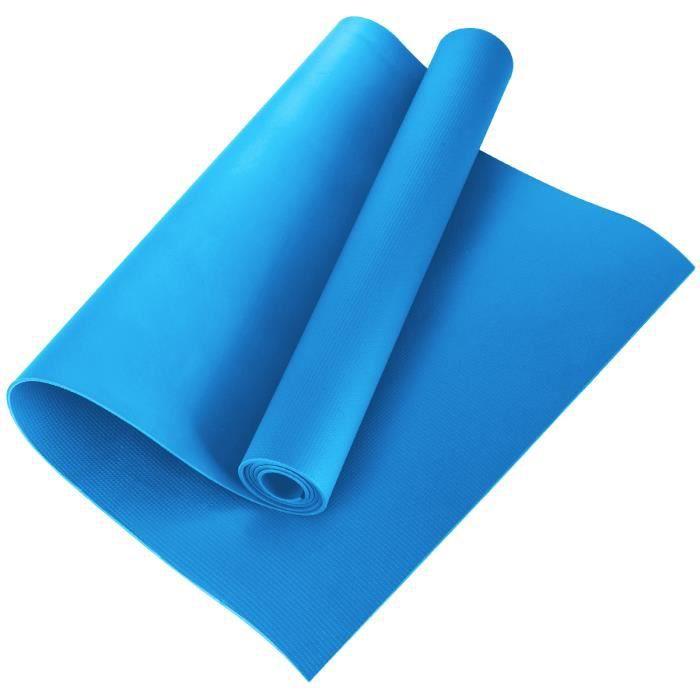 Tapis de sol Tapis de sport Tapis de gymnastique Tapis de yoga en Mousse 173 * 60 * 0.4cm bleu, EVA Tapis de fitness antidérapant