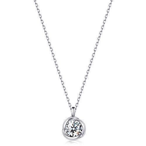 Immobird Collier Femme Argent 925 Cristaux Swarovski Elements pendantes collier pas cher bijoux femme Cadeaux