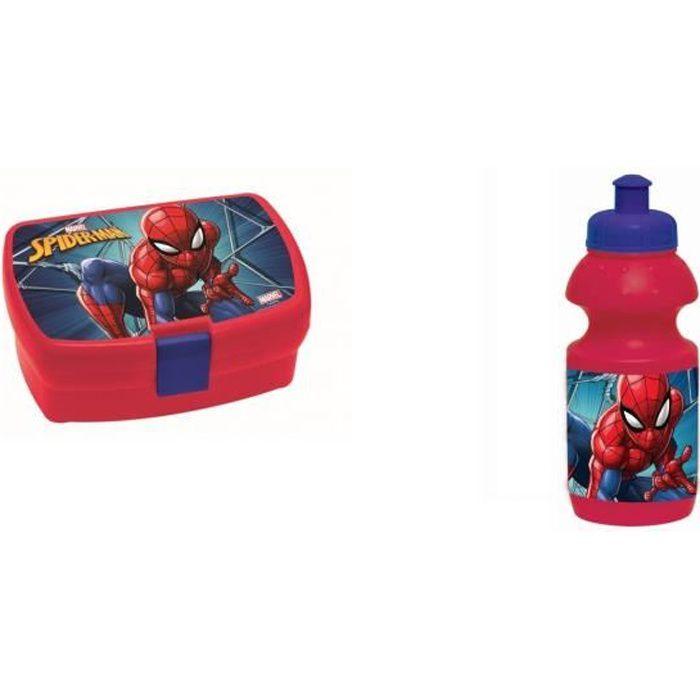 spiderman- Boite à Gouter et gourde - Ensemble Gouter - Lunch Box - spider-man