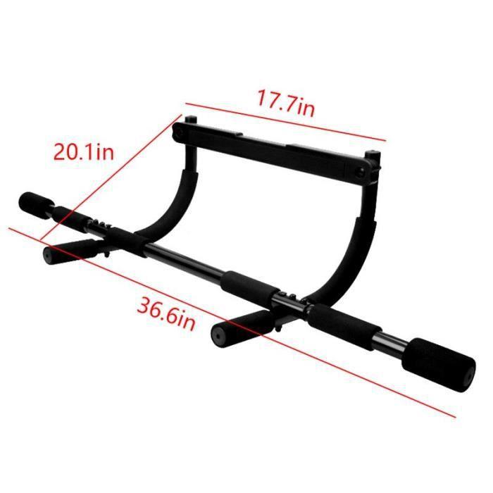 barre pour traction -Portable Pull-up Bar pour le Haut Du Corps Formation Porte Barre D'entraîne...- Modèle: Black - ZOAMFWZDA07273