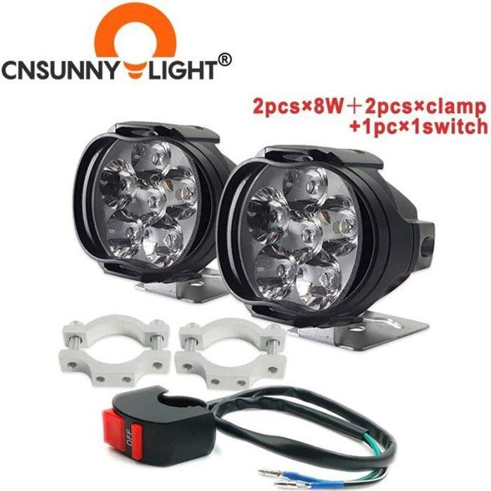 L3C-C -CNSUNNYLIGHT – Éclairage LED ultra lumineux, pour travail et conduite, phare anti brouillard pour voiture, moto, quad, scoote