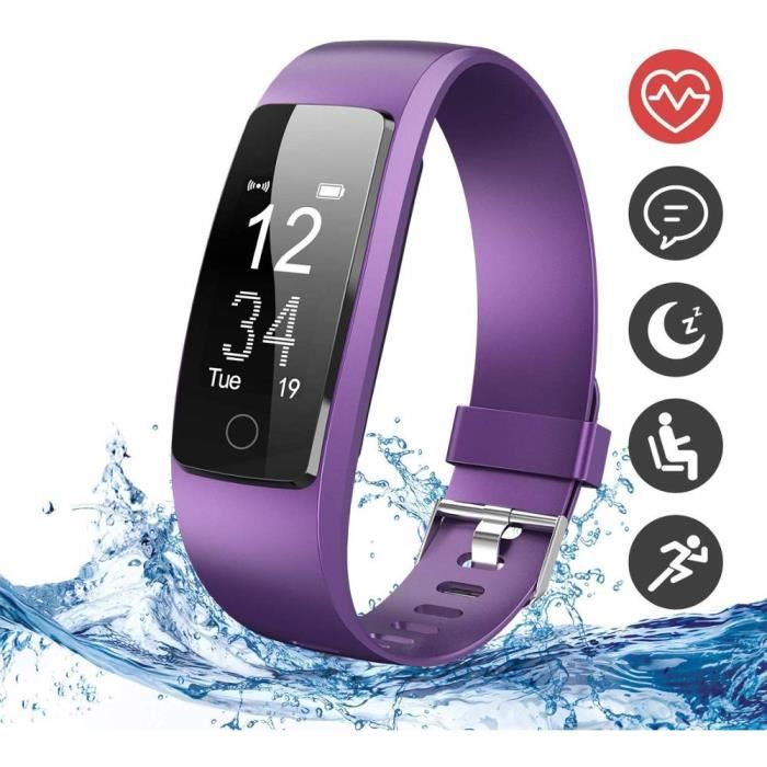 Montre Connectée GPS, Bracelet Connectée Affichage d'Écran Couleur, Fitness Tracker d'Activité Étanche IP67 pour Surveillance de la