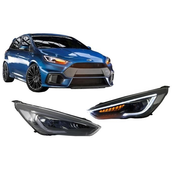 Phares LED DRL Pour Ford Focus III Mk3 15-17 Signaux DynamicTurn Look Bi-Xénon