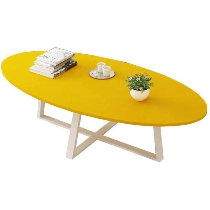 TABLE DE JARDON Table Pliante Table Basse Balcon,Table &agrave Manger Ovale Planche en Bois M&eacutetal Salon Table De Chambre356