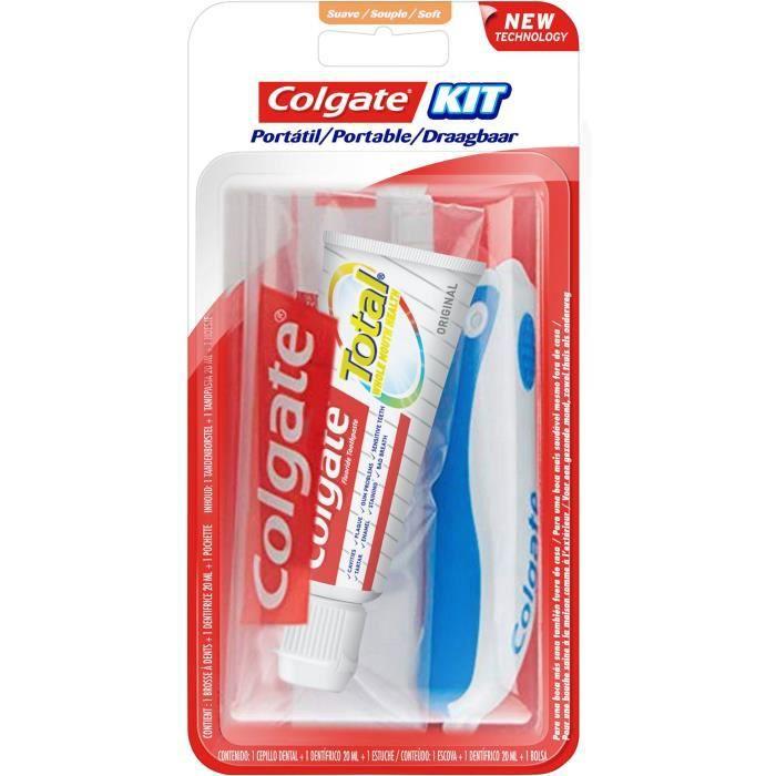 COLGATE Kit de voyage Total Brosse à dents & Dentifrice - 20 ml